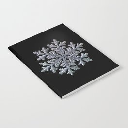 Real snowflake - Hyperion black Notebook
