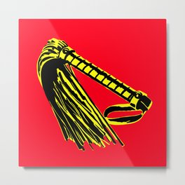 Red + Yellow: Flogger Metal Print