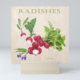 Radishes and their Blossom Mini Art Print