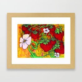 Strawberry Patch Framed Art Print