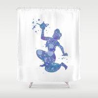 aladdin Shower Curtains featuring Aladdin Disneys by Carma Zoe