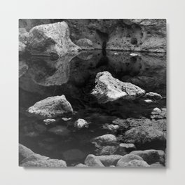 Reflections on Shallow Water Metal Print