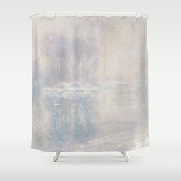 Ice Floes (1893) by Claude Monet Shower Curtain