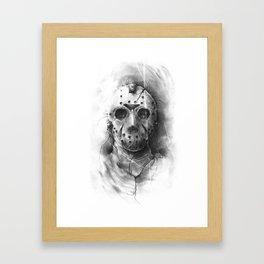 The Horror of Crystal Lake Framed Art Print