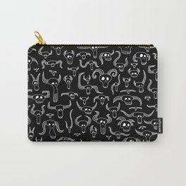 Death Party Time Black & White Carry-All Pouch