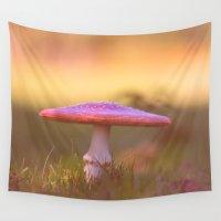 mushroom Wall Tapestries featuring Fly agaric mushroom by AvHeertum