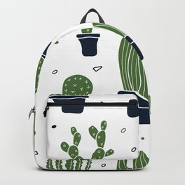 Cactus Plants Pattern- Green Backpack