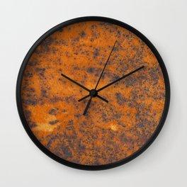 Vintage metall rust texture - Orange / red pattern Wall Clock