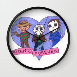 Friends Forever Horror Wall Clock