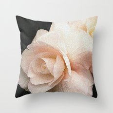 Pale Pink Begonia Throw Pillow