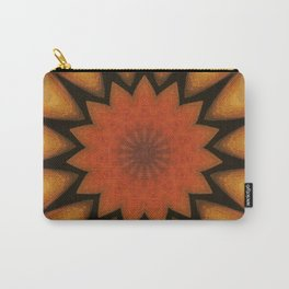 Solar // Mandala Rays Orange Yellow Golden Energy Chakra Healing Light Carry-All Pouch