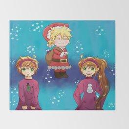 Vocaloid Christmas 2015 Throw Blanket