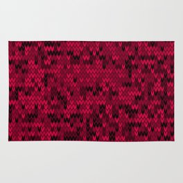 Red knitted textiles Rug