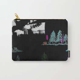 Through The Trees. Trees, Birds, Abstract, Black, White, Jodilynpaintings Carry-All Pouch