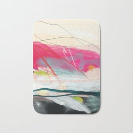 abstract landscape with pink sky over white cloud mountain Bath Mat