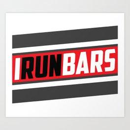 IRUNBARS STRIPE Art Print