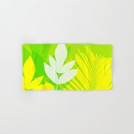 Jungle neon green Leaves Palm Yellow Hand & Bath Towel