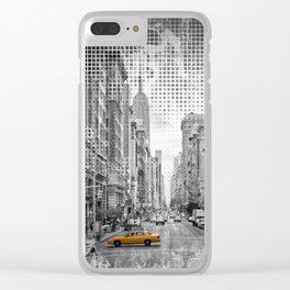 Graphic Art NEW YORK CITY 5th Avenue Clear iPhone Case