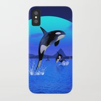 orca iPhone & iPod Cases featuring Orca by Simone Gatterwe