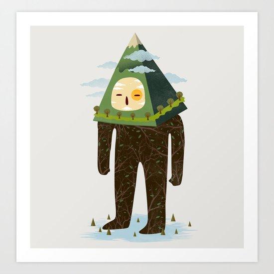 The Man Mountain Art Print