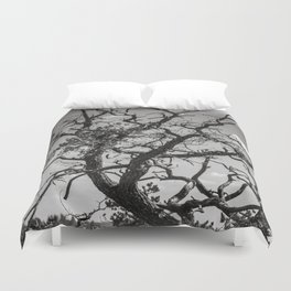 Crooked Tree Cloudy Sky Duvet Cover