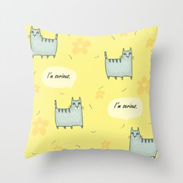 Why So Serious....Cat Throw Pillow