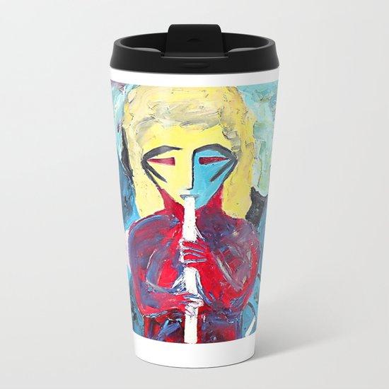 Three Blue Jazz Sisters Metal Travel Mug