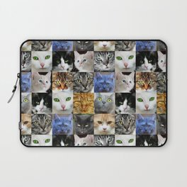 Cat Face Collage Laptop Sleeve