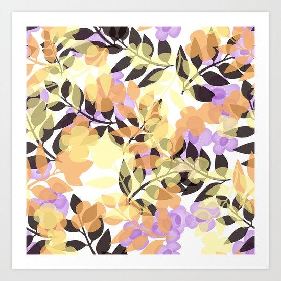 Autumn leaves . Art Print