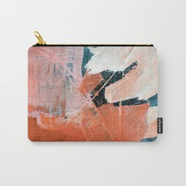 Interrupt [3]: a pretty minimal abstract acrylic piece in pink white and blue by Alyssa Hamilton Art Carry-All Pouch