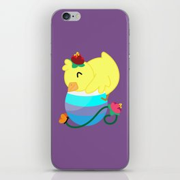 Spring Chicken - Hugging An Egg iPhone Skin