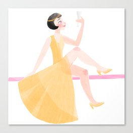 New Year's Flapper Canvas Print