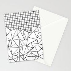 Abstract Grid #2 Black on White Stationery Cards