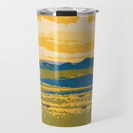 Grasslands National Park Poster Travel Mug