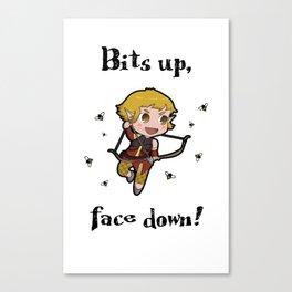 Bits up, face down! Sera Canvas Print