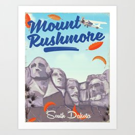 Mount Rushmore National Park Art Print