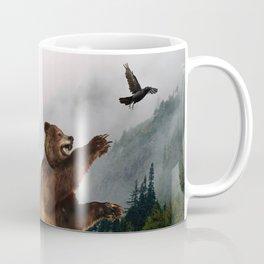 The Trickster - Raven & Grizzly Bear Art Print Coffee Mug