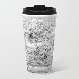 Two Lost Souls Swimming In A Fish Bowl Metal Travel Mug