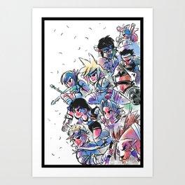 Final Fantasy VII Cast Art Print