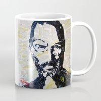 steve jobs Mugs featuring Steve Jobs by Phil Fung