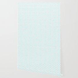 Dots (Eggshell Blue/White) Wallpaper