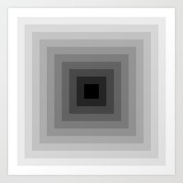 black and white tunnel Art Print