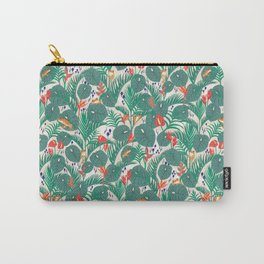 Tropical Frogs in the Jungle - Cream Carry-All Pouch