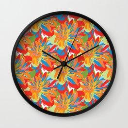 Floral 101 Wall Clock
