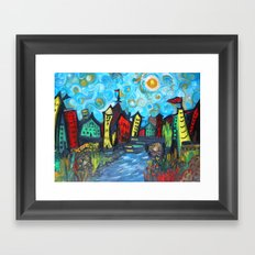 Primary color Cityscape Framed Art Print