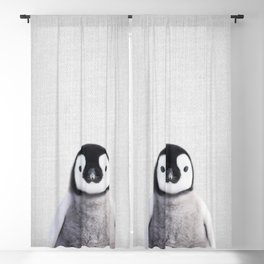 Baby Penguin - Colorful Blackout Curtain