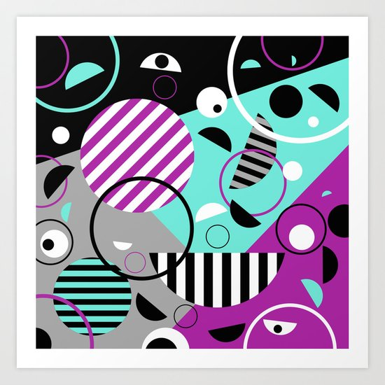 Bits And Bobs - Abstract, geometric design Art Print