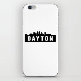 Dayton, Ohio City Skyline Silhouette iPhone Skin