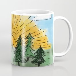 Stay Sexy, Don't Get Murdered Watercolor Coffee Mug