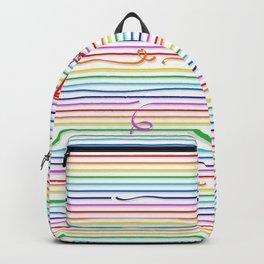 Rainbow stripes (Ribbon) Backpack